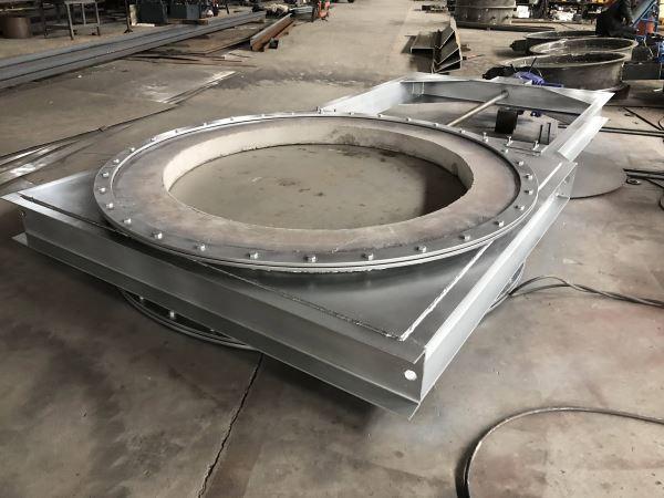 耐高温耐火电动插板门插板阀
