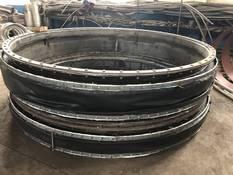 氟橡胶防腐脱硫风道非金属软连接